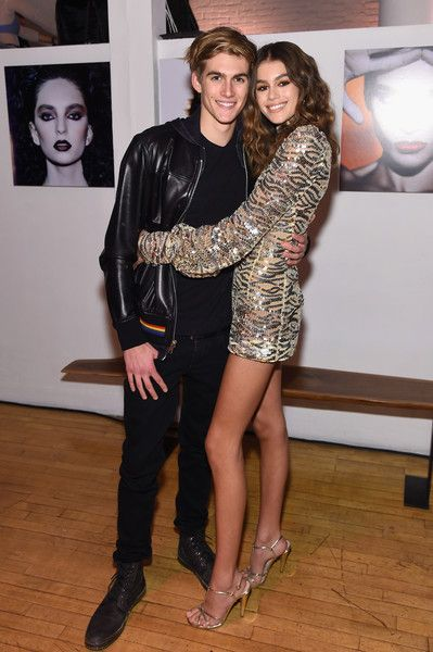Presley Gerber (L) and Kaia Gerber attend Marc Jacobs Beauty Celebrates Kaia Gerber on February 15, 2017 in New York City.