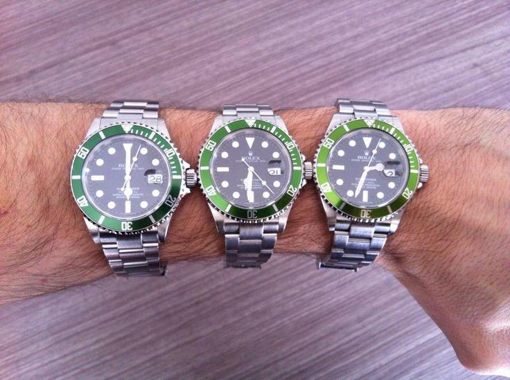 3 teintes de vert - SUB 16610LV
