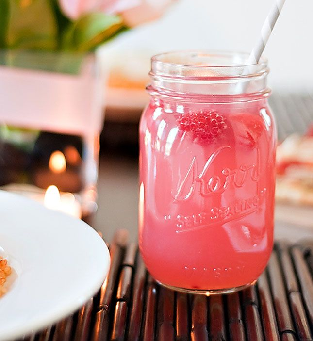 Make a spring-ready Raspberry Beer Cocktail to sip on at your Easter brunch by combining Corona, raspberries, lemonade + vodka.