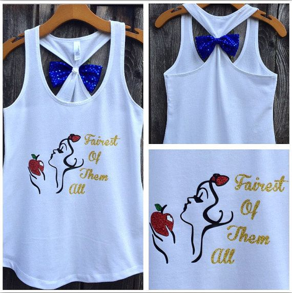Snow White Inspired Bow Back Tank Top Fairest of by 31Blossoms