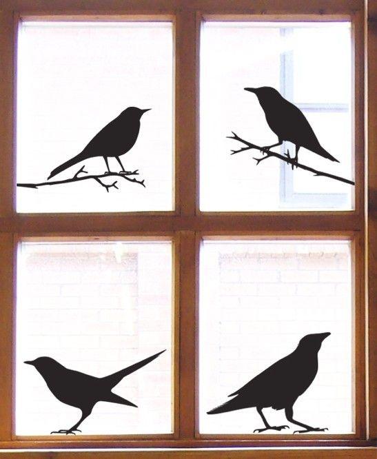 Unique Window Stickers Ideas On Pinterest Christmas Window - Window decals for birds