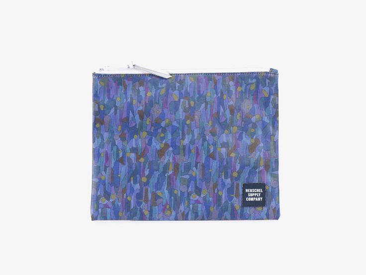 Taštička Herschel Supply & Liberty London – fialový vzor – Pouch – Volcanism Liberty print