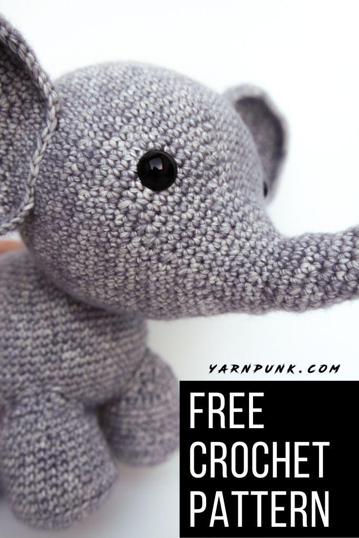 Oscar The Crochet Elephant Crochet Elephant Crochet Elephant Pattern Free Crochet Elephant Pattern