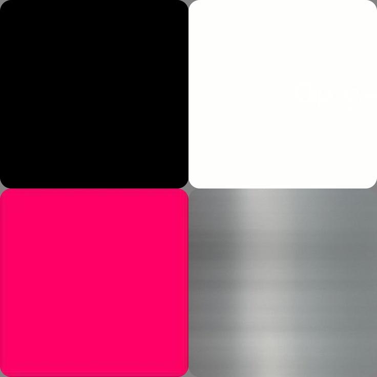 {Color Scheme for my Bedroom} ~Black~White~Hot Pink~Brush ...