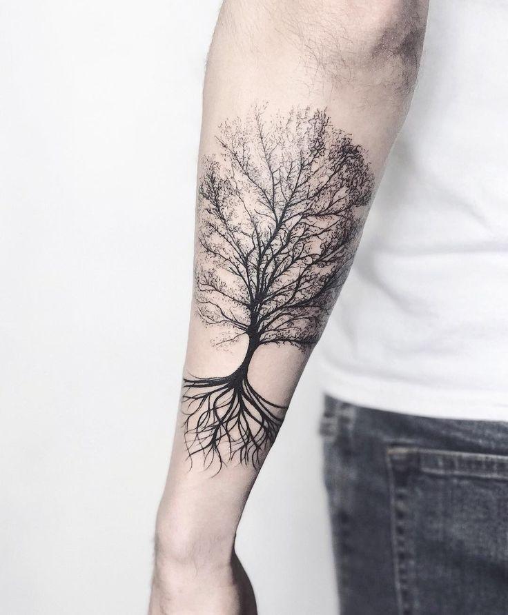 Tattoo Tree Arm Tattoo Tree In 2020 Roots Tattoo Tree Tattoo Forearm Tree Roots Tattoo