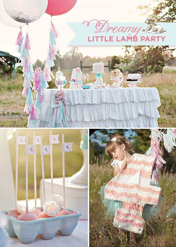 Dreamy Little Lamb Party {Vintage & Girly}