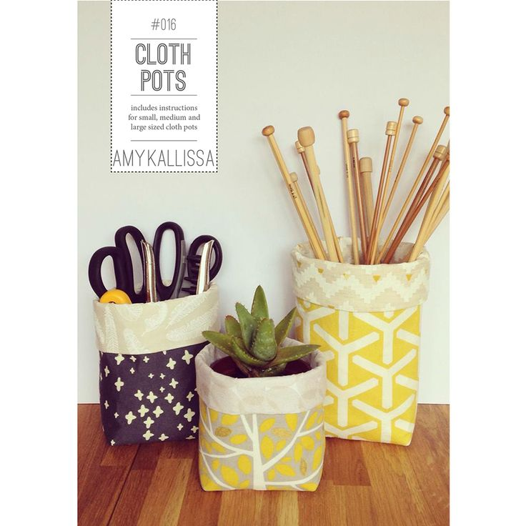 Free Cloth Pot Pattern 3 different sizes Free PDF sewing pattern with step by step photographic instructions