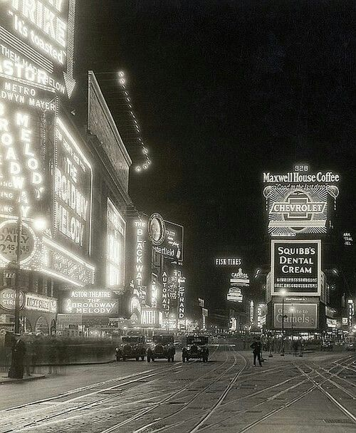 Times Square, New York City, 1929