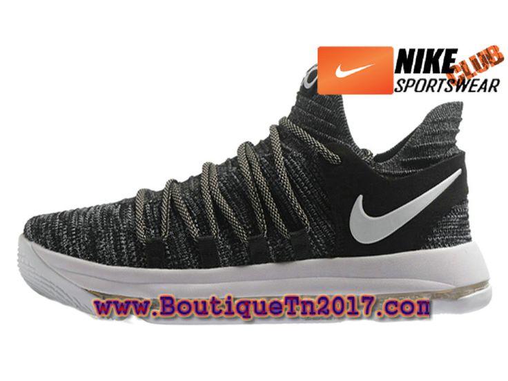 Nike Zoom KD 10 Chaussures Nike Basket Pas Cher Pour Homme Noir Blanc