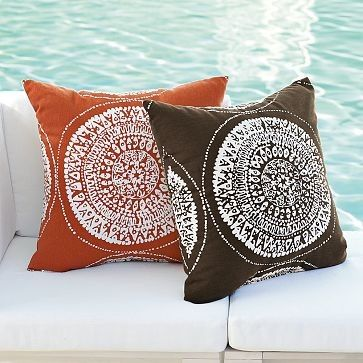 Sundial Outdoor Pillow | west elm - Eclectic - Outdoor Pillows - West Elm