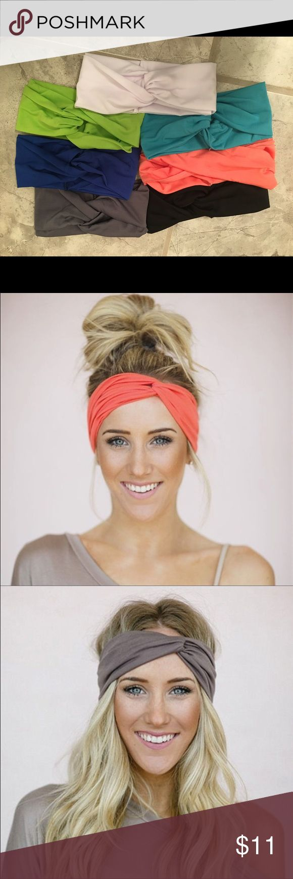 Soft stretch headband wrap Soft and super functional twisted fabric handband. Looks awesome with hair styled up or down. 7 colors available; one of each color shown. Accessories Hair Accessories