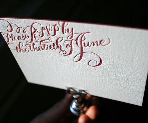 Typography  Bella Figura  calligraphy letterpress wedding invitations