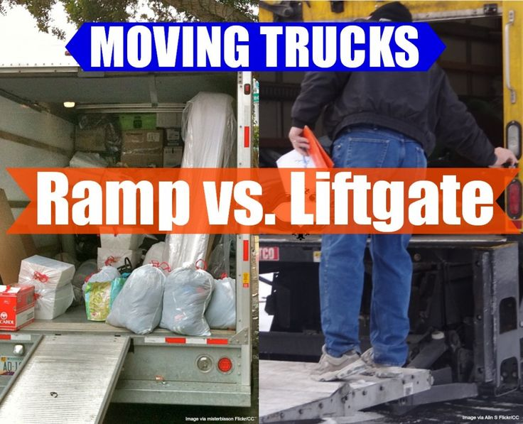 A moving truck with a ramp can be better than a moving truck with a liftgate in your next DIY move. Which do you prefer?