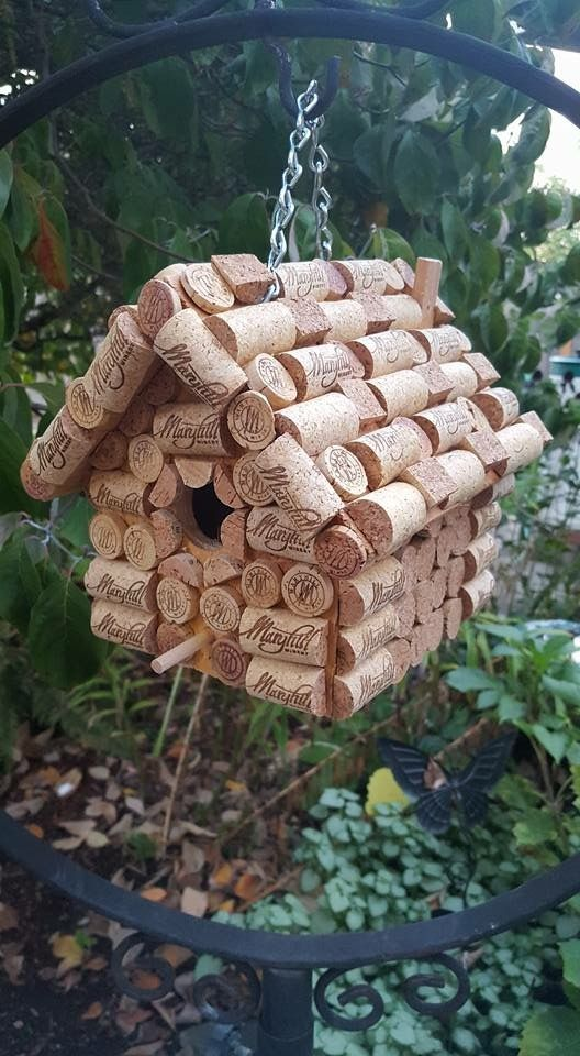 Marryhill Winery  Wine cork birdhouse