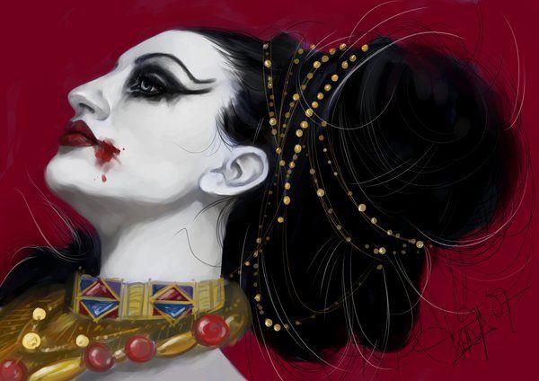 La Reina de los Condenados by Heteferes.deviantart.com on @deviantART