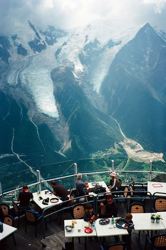 | ♕ |  Observation deck at Chamonix, French Alps  | by © Lu Chien-Ping | via ysvoice