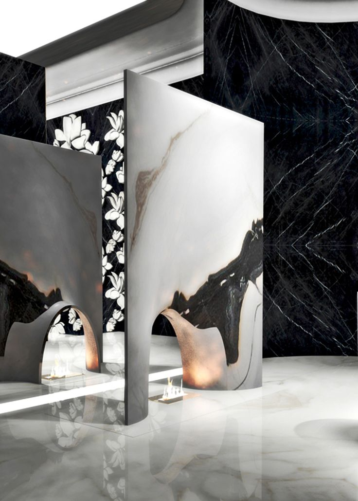 Fireplace by Alessandro La Spade for Antolini. Such a bold design