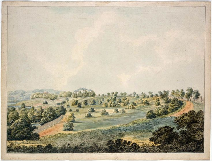 Government House,Parramatta.Painting by Joseph Lycett in 1819.A♥W