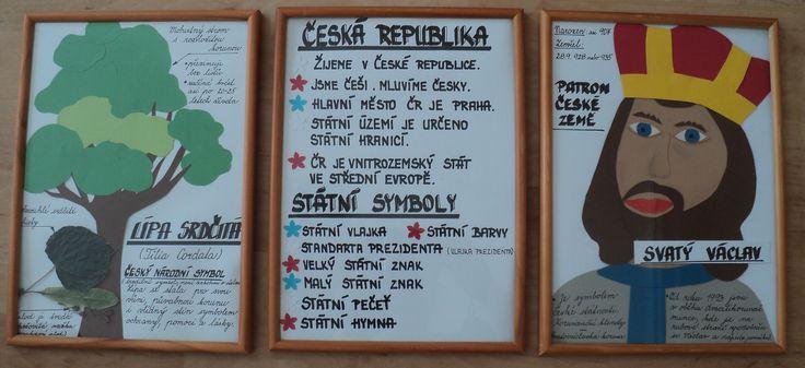 """Česká republika - symboly, národní strom, patron sv. Václav - výzdoba k celoroční hře """"Máme rádi Česko"""""""