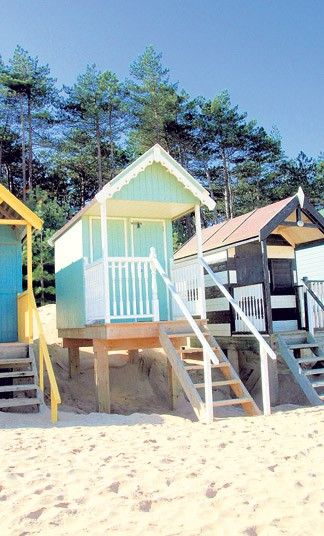 Property sleuth Graham Norwood packs his bucket and spade and sets off   for the seaside, to find ten of the best beach huts currently for sale.