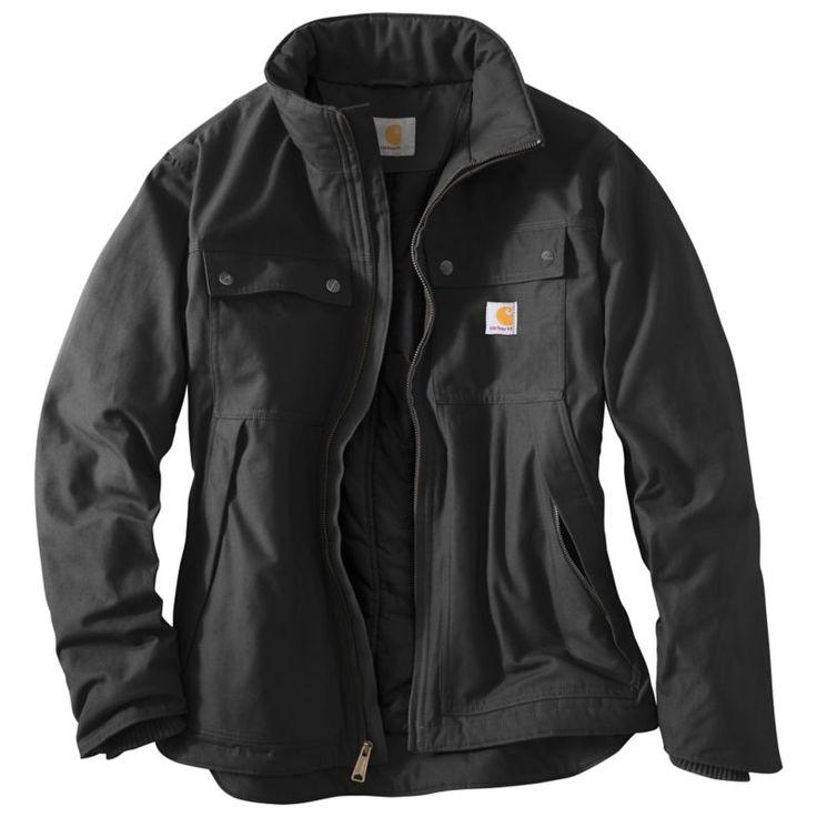 Carhartt Men's Quick Duck Jefferson Traditional Jacket, Size: Small, Black