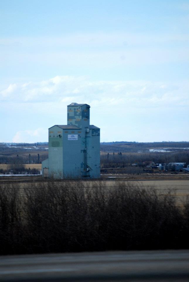 Grain elevator in Alberta, Highway 2 South. By me
