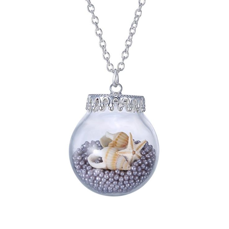 1000-Pearl-Starfish-Conch-Long-Sweater-Chain-Glass-Necklace-Pendant-Jewelry-Gift