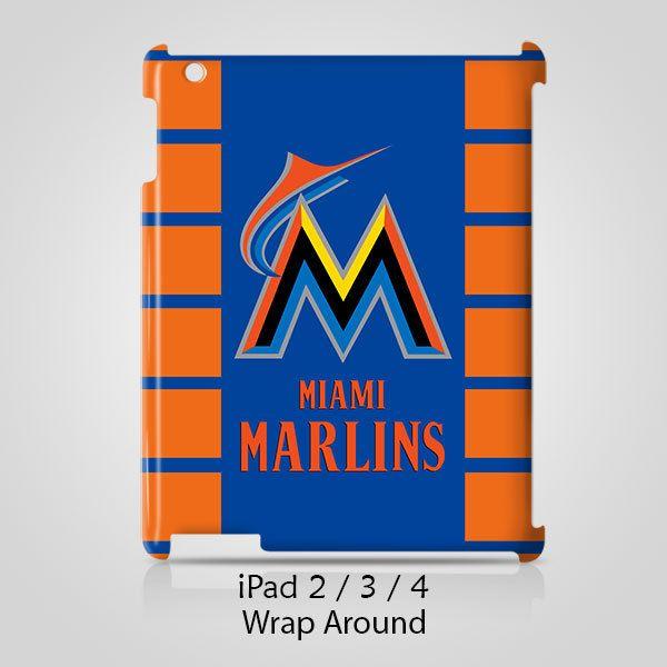 Miami Marlins iPad 2 3 4 Case Cover Wrap Around
