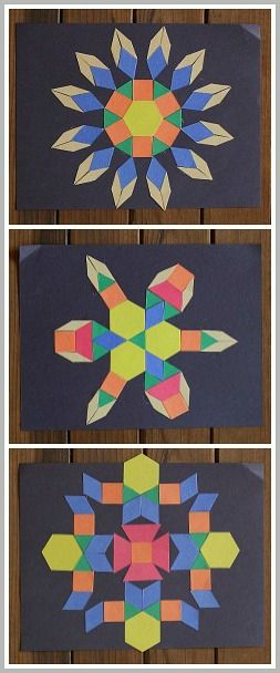 Art & Math for Kids: Create geometric designs using paper shapes! ~BuggyandBuddy.com