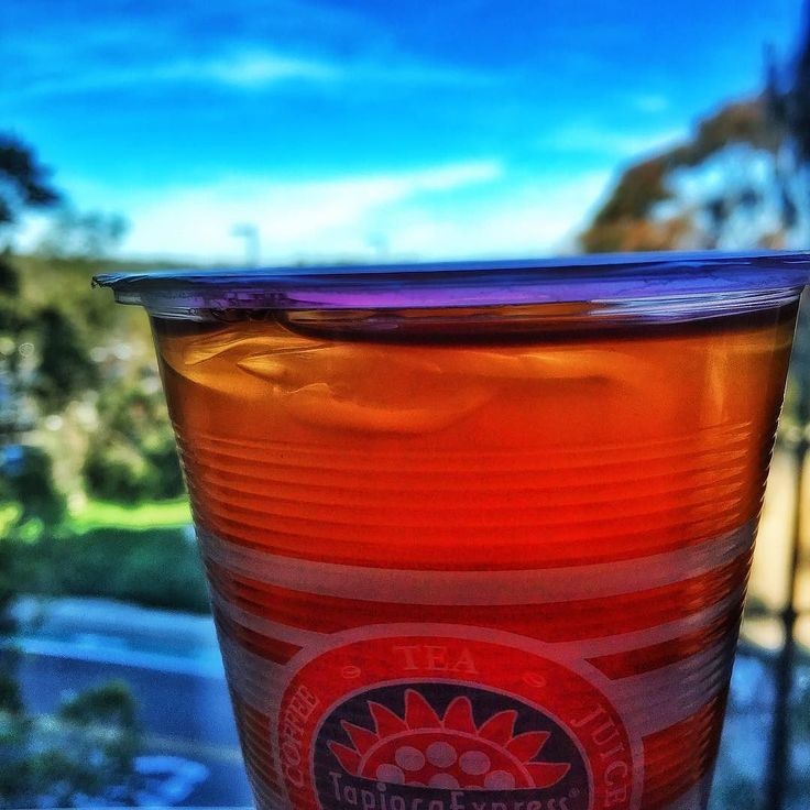 A tropical tea after a #taiwanese green tea boba #greenteaboba from #tapiocaexpress on a hot sunny day in #ucsd -- captured in #color #colour using #iphone6s #iphonephotography