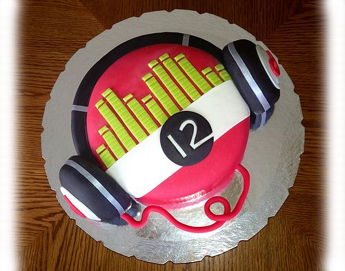 Beat Headphones Cake