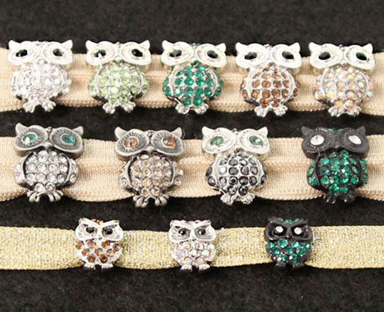 Wowl!  Perch these owl-fully cute #owl #sliders onto your FLEXYs® for hoot couture locks & frocks. #hairties #headbands #hairaccessories #madeinusa #patentpending