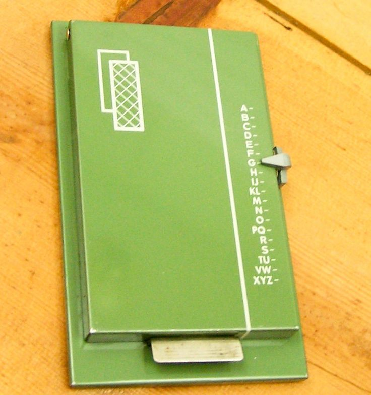 Flip up Address book - Aunt Net had one.  I loved flipping it up when we went home for summer vacation.