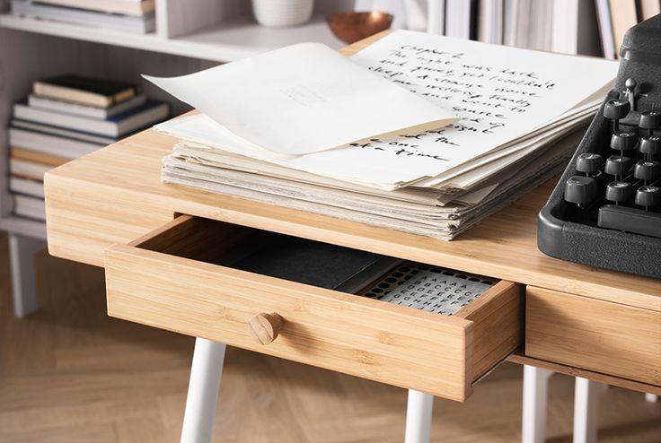 Tip voor een duurzaam 2017: ontdek bamboe! | IKEA IKEAnederland IKEAnl wooninspiratie inspiratie duurzaam bamboe LILLÅSEN bureau werkplek werkkamer