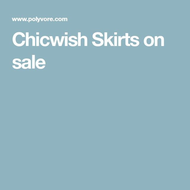 Chicwish Skirts on sale