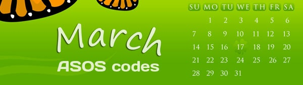 March and Asos codes