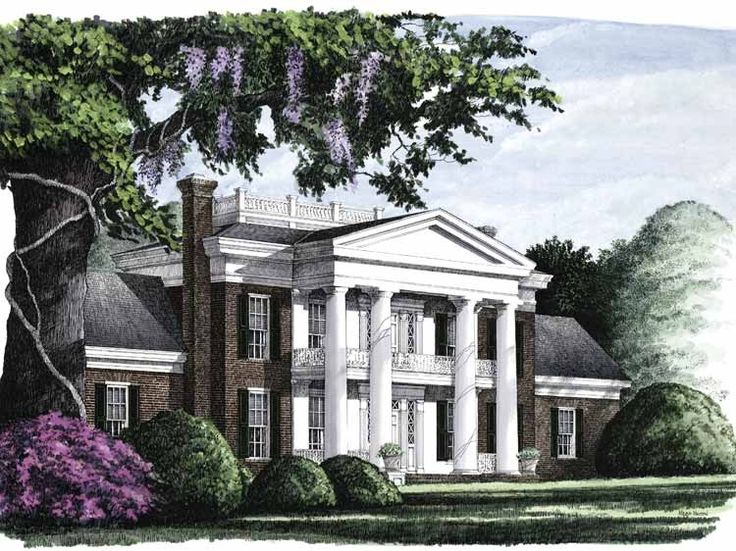 Eplans neoclassical house plan savannah 4293 square for Neoclassical house plans