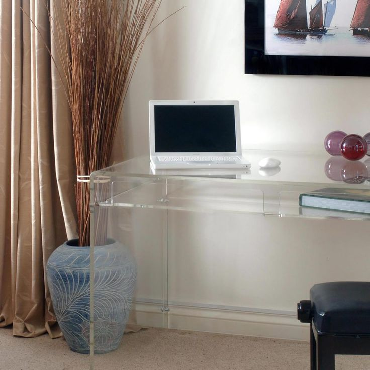 Lucite Desk with Drawer 56