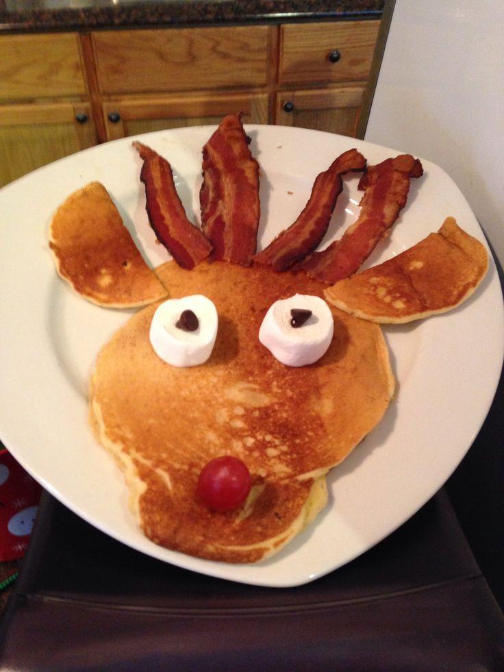 Reindeer pancakes!! | christmas | Pinterest