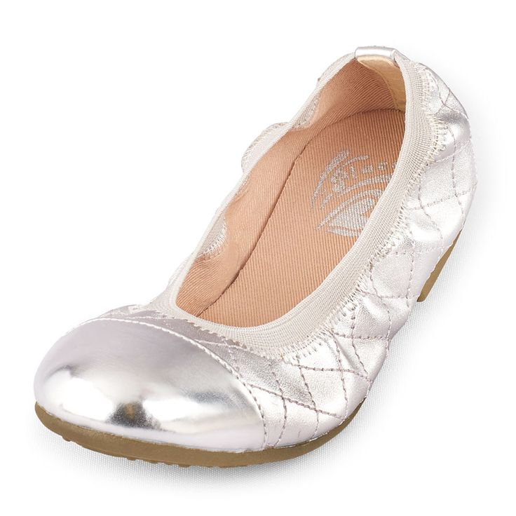 Girls Quilted Kayla Ballet Flat