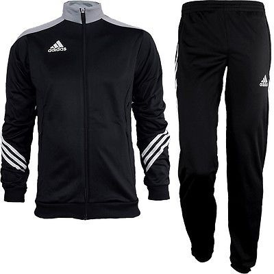 Track Suits 59339: Adidas Sereno 14 Mens Track Suit Black/Gray/White Jogging Sports Training New -> BUY IT NOW ONLY: $78.89 on eBay!