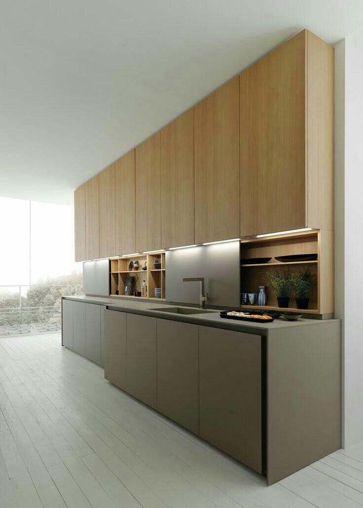 Mese kaplama cilali ust dolaplar alt kapaklar gri panel tezgah arasi cok iyi bi tasarim rayli · innenarchitektur kücheküchen