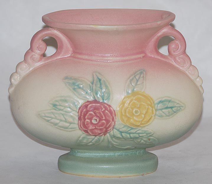 Open Rose Hull Pottery Vases Ebay