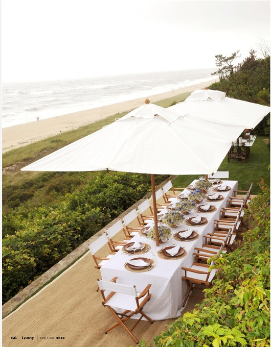 gorgeous carefree beach seating | ricky lauren: the hamptons: food, family and history | lonny mag june/july 2012