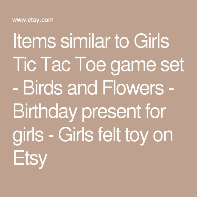 Items similar to Girls Tic Tac Toe game set - Birds and Flowers - Birthday present for girls - Girls felt toy on Etsy