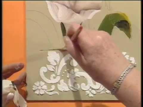 MONITOR | Silvia Mongelos pinta un cuadro en oleo | Manos a la Obra-tulipanes con stencil