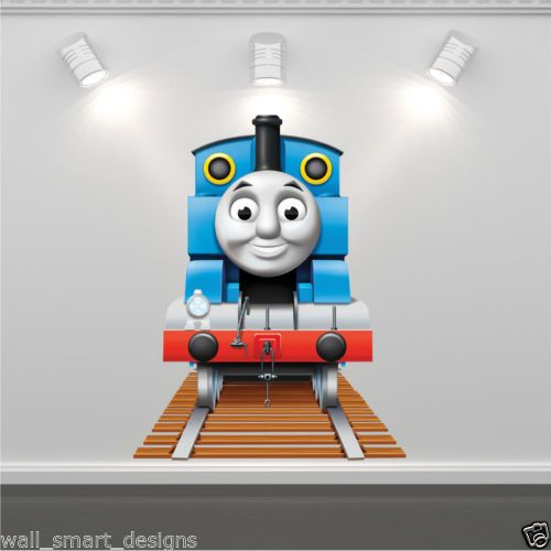 Wall Art Sticker Full Colour Thomas The Tank Engine Train Boys Bedroom Decal