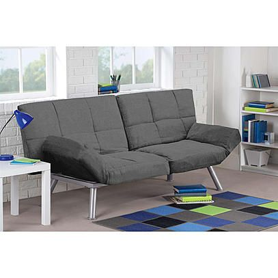 dorel home furnishings contempo convertible futon multiple colors room - Dorm Room Furniture