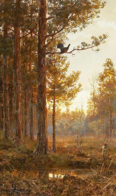 "Muraviov Vladimir Leodinovich (Russian,1861-1940), ""Woodland Landscape"" by sofi01, via Flickr"