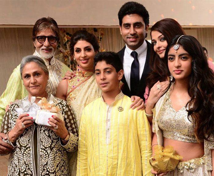 Aishwarya with family at a family wedding